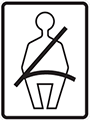 seat belt mandatory croatia traffic sign